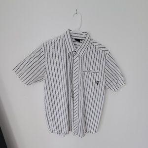 Van's large size button down short sleeve shirt